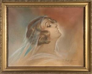 Wasyl Skworcow, Portret kobiety w stylu art deco