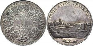 German States Frankfurt 2 Thaler / 3-1/2 Gulden 1843