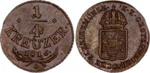 Austria 1/4 Kreuzer 1816 O