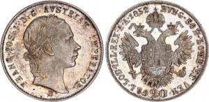 Austria 20 Kreuzer 1852 B