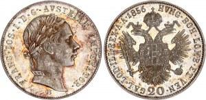 Austria 20 Kreuzer 1856 B