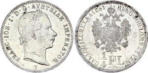 Austria 1/4 Florin 1861 V