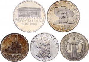 Austria Lot of 5 Silver Proof Coins 1955 - 1966