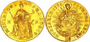 Hungary 1 Dukat 1756 KB