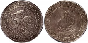 Italian States Mantova Ducatone 1637 - 1647 PCGS XF45