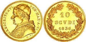 Italian States Papal States 10 Scudi 1836 V R