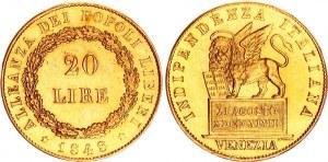 Italian States Venice 20 Lire 1848