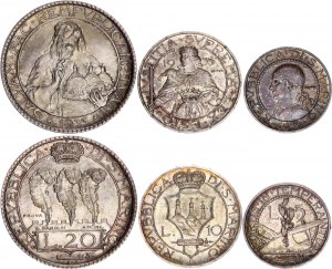 San Marino 5 - 10 - 20 Lire 1933 R