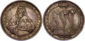 San Marino 20 Lire 1933 R