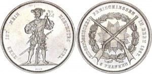Switzerland 5 Francs 1857 Bern Shooting