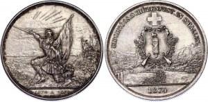 Switzerland 5 Francs 1874 St. Gallen Shooting