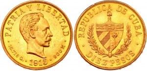 Cuba 10 Pesos 1915