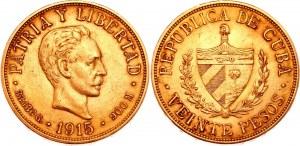 Cuba 20 Pesos 1915
