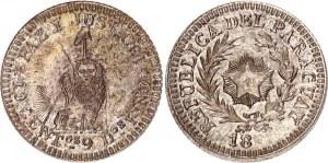 Paraguay 10 Cents Pattern Struck over Argentina 10 Centavos 1882 (ND)