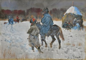 Jerzy KOSSAK (1886-1955), Odwrót spod Moskwy, 1928