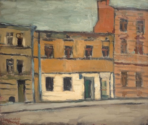 Jerzy Nowosielski (1923 Kraków - 2011 Kraków), Ulica Karmelicka w Krakowie, 1945
