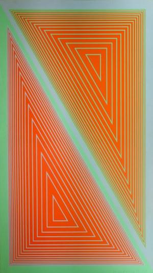 Richard Anuszkiewicz (1930, Erie, Pensylwania - 2020, Englewood), Triangulated Orange, 1977