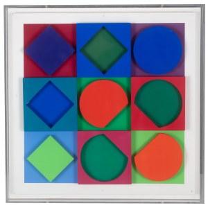 Victor Vasarely (1908 Pécs - 1997 Paryż), Beryl (pozytyw i negatyw), 1967