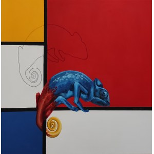 SAK Izabela, Mondrian i kameleon, 2021