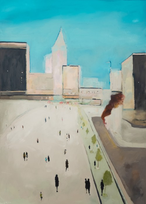 MULK MUSIOLIK Romuald, Dym na chodniku, 2021