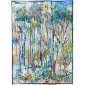 MAŚLUSZCZAK Franciszek, Błękitny las, 2021