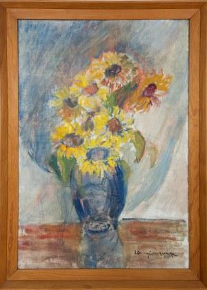 DZIURZYŃSKA-ROSIŃSKA Zofia, Martwa Natura. Bukiet kwiatów, 1974