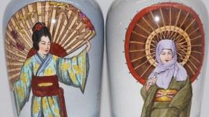 para wazonów Mettlach-Villeroy & Boch z motywem chinoiserie