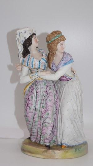 para młodych kobiet, biskwit, Francja XIX w.
