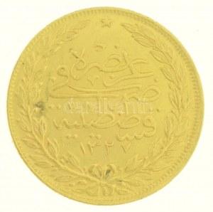 Oszmán Birodalom 1909. (1327/4) 100K Au