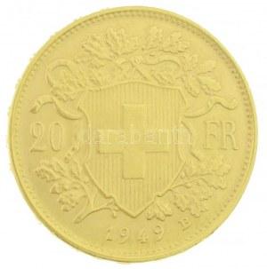 Svájc 1949B 20Fr Au