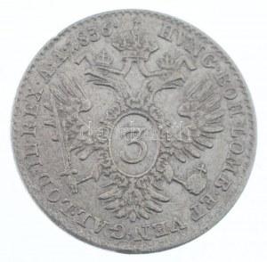 Ausztria 1836A 3kr Ag