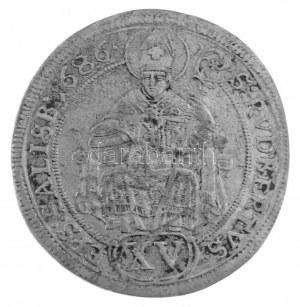 Osztrák Államok / Salzburg 1686. 15kr Ag