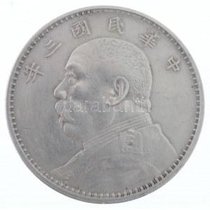 Kína 1914. 1$ (1Y) Ag