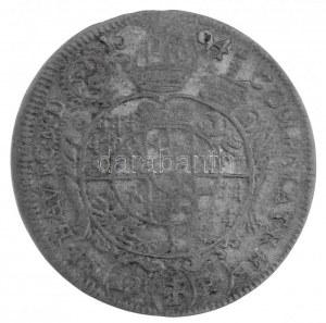 Német Államok / Boroszló 1694LPH 15kr Ag