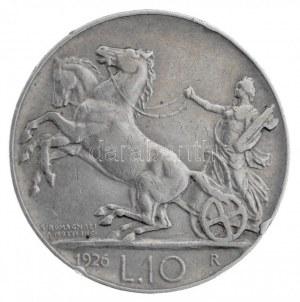 Olaszország 1926R 10L Ag