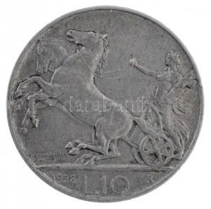 Olaszország 1928R 10L Ag