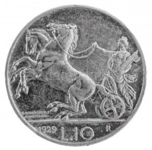 Olaszország 1929R 10L Ag