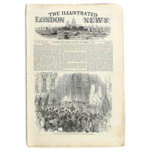 1847 Lánchíd fametszetű illusztrációja a The Illustrated London News 1847. nov. 20. számában...