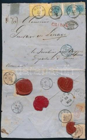 1857.márc.22 Franciaországba küldött ajánlott levél