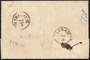 1859 15kr II. típus levélen / type II. on cover, piros / red