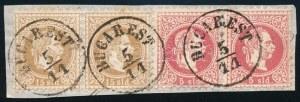 1867 2 x 5sld + 2 x 15sld kivágáson / on cutting