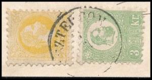 1871 1867-es 2kr és Kőnyomat 3kr vegyes bérmentesítés távolsági levélen (2 oldalhajtóka hiány) (ex Wyler, Kostyál) ...