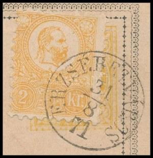 1871 1869-es magyar nyelvű díjjegyes levelezőlap az érvényességi időn kívül felhasználva...