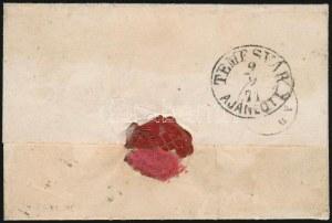 1871 Kőnyomat 5kr + 10kr ajánlott levélen / Mi 3 + 4 on registered cover