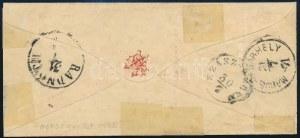 1871 Kőnyomat 2kr + 3kr levélen / Mi 1 + 2 on cover
