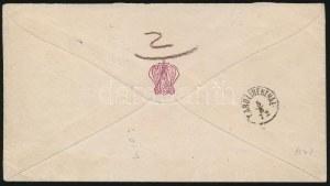1872 Kőnyomat 3kr és Réznyomat 2kr vegyes bérmentesítés levélen Prágába / Mi 2 + 8, mixed franking on cover