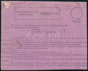 1875 Postautalvány Réznyomat 10kr és Színesszámú 5kr vegyes bérmentesítéssel / Money order with Mi 10 ...