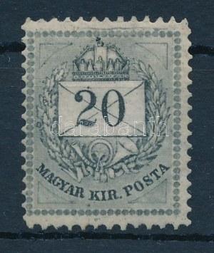 1881 20kr 13-as fogazással, eredeti részben utángumizott, felül néhány fog javított, egyébként friss, jó minőségben ...