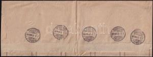 1890.nov.3. 2kr címszalag teljes ív nyomtatványként feladva Németországba, egyedi ritkaság! / 2kr PS...