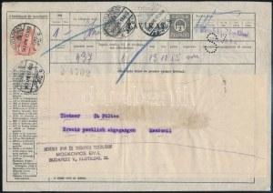 1917 2f díjjegyes távirat 1K bérmentesítéssel, Siemens S7 lyukasztással, teljes, hibátlan állapotban, RRR! ...
